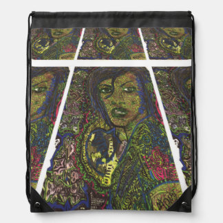 Mariée De Le Saule Drawstring Backpacks