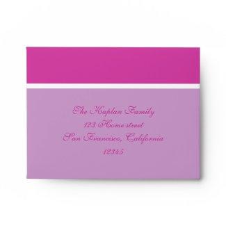 Marielle Bat Mitzvah Wedding RSVP Envelope envelope