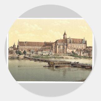 Marienburg, west side, Prussia, Germany (i.e., Mal Round Sticker