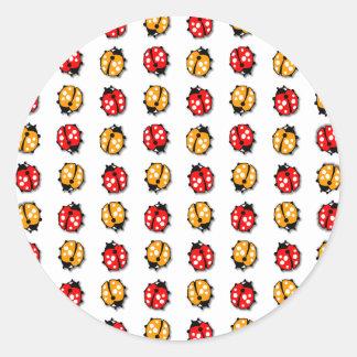Marienkäfer Invasion Classic Round Sticker