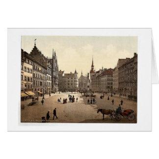 Marienplatz, Munich, Baviera, Alemania magnífica Felicitacion