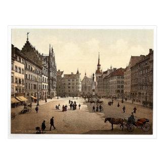 Marienplatz, Munich, Baviera, Alemania magnífica Postal