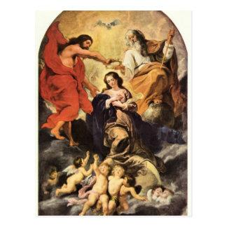 Marie's coronation by Paul Rubens Postcard