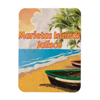 Marietas Islands, Jalisco vintage travel poster Rectangular Photo Magnet