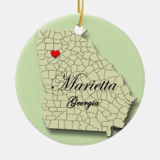 Marietta, Georgia. Map, Christmas Ornaments