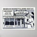 Marietta Ohio Vintage Restaurant Advertisement Print