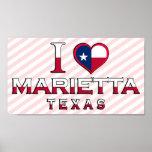 Marietta, Texas Poster
