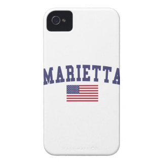 Marietta US Flag Case-Mate iPhone 4 Case