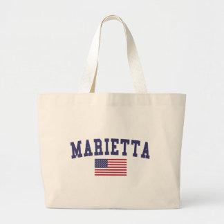 Marietta US Flag Large Tote Bag
