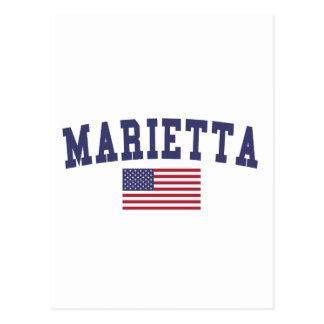 Marietta US Flag Postcard