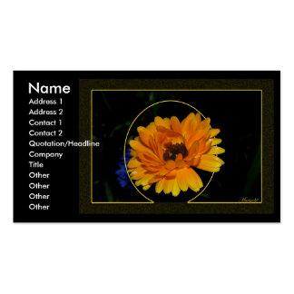 Marigold 1 business card template