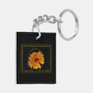 Marigold 1 Double-Sided square acrylic keychain