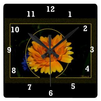 Marigold 1 square wallclock