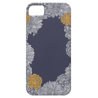Marigold Blooms Navy iPhone / iPad case