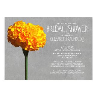 Marigold Bridal Shower Invitations Card