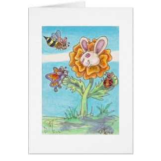 Marigold Bunny Bee, Butterfly and Lady Bug Card