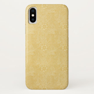Marigold by William Morris, Vintage Garden Flowers iPhone X Case