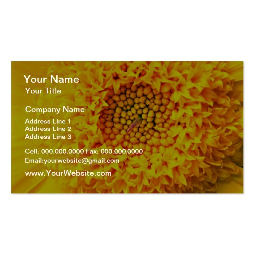 Marigold close-up  flowers Double-Sided standard business cards (Pack of 100)