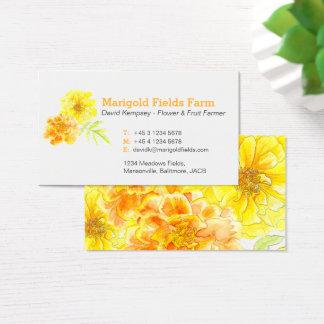 Marigold farmer / flower grower business cards