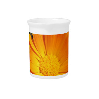 marigold flower beverage pitcher