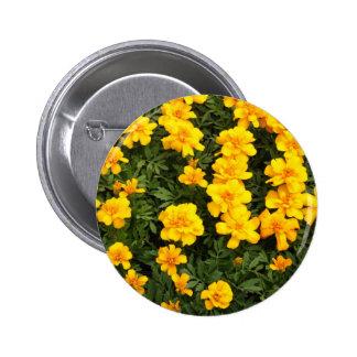 Marigold Flower Button Badge