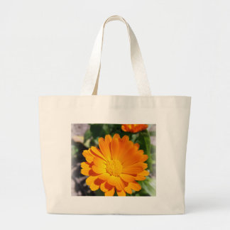 marigold flower large tote bag