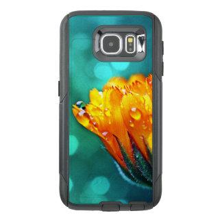 Marigold Flower on Teal OtterBox Samsung Galaxy S6 Case