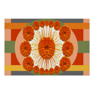 MARIGOLD Flower Show :   Decorative Art Posters