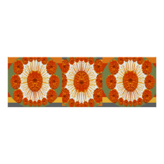 MARIGOLD Flower Show :   Decorative Art Print