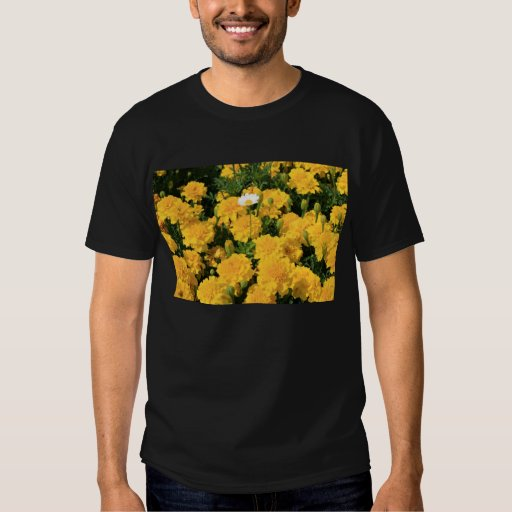 Marigold Flowers and a Daisy Flower T-Shirt