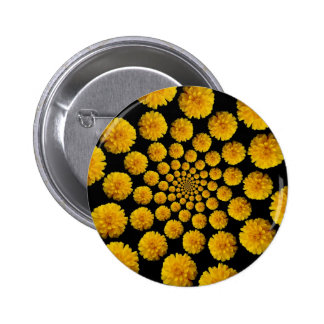 Marigold Flowers Button