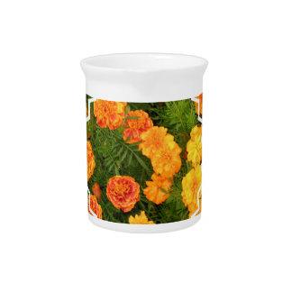 Marigold Flowers Pitcher