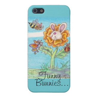 Marigold Funny Bunny Bee, Butterfly & Lady Bug Art Case For iPhone SE/5/5s