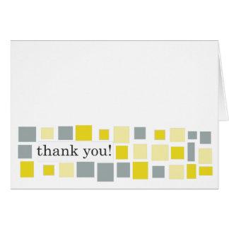 Marigold Grey Mosaic Thank You Note Card