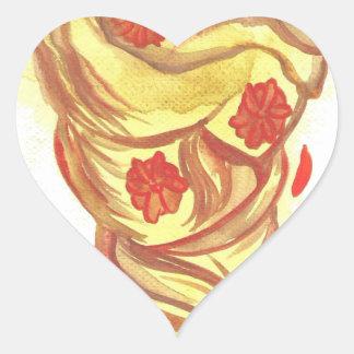 Marigold Hair Heart Sticker