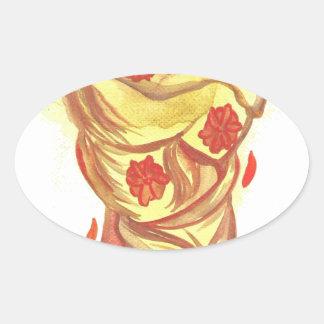 Marigold Hair Oval Sticker