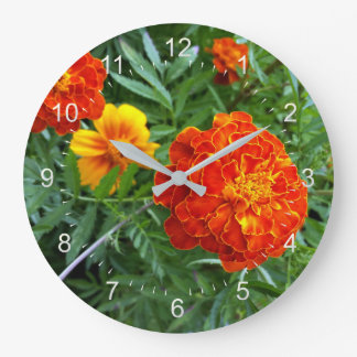marigold in the sun large clock