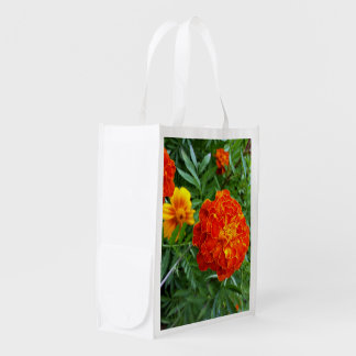 marigold in the sun reusable grocery bag
