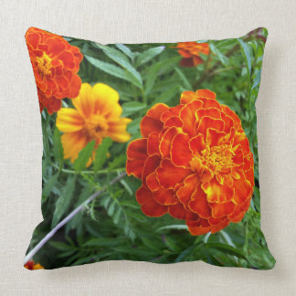 marigold in the sun throw pillow
