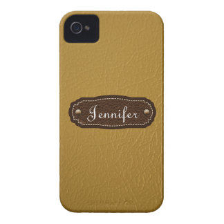 Marigold Leather Look personalized iPhone 4/4s iPhone 4 Cover