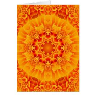 Marigold Mandala Card