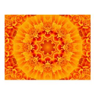 Marigold Mandala Postcard