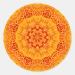Marigold Mandala Round Stickers