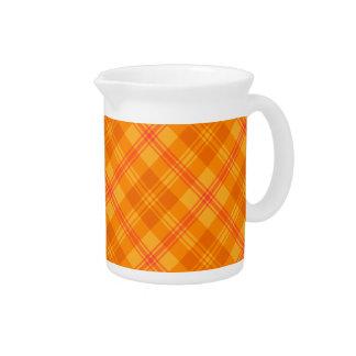 Marigold Medley Orange Plaid China Pitcher or Jug