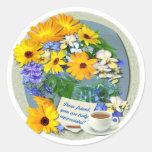 MARIGOLD POSY ~ Friendship Plate Sticker