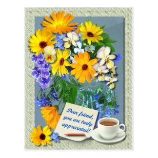 MARIGOLD POSY ~ Friendship Postcard