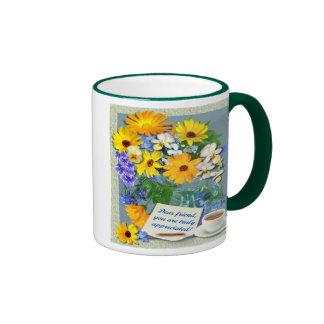 MARIGOLD POSY ~ Friendship Ringer mug