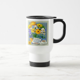 MARIGOLD POSY ~ Travel/Commuter Mug