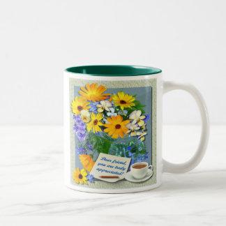 MARIGOLD POSY ~ Two-Tone Mug