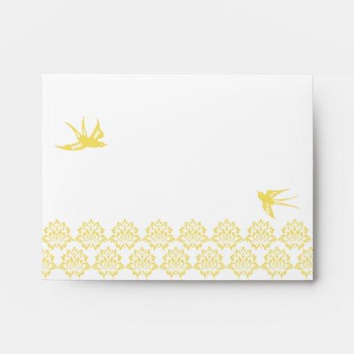 Marigold Save the Date Envelopes